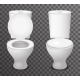 Toilet Ceramic Seat Open Closed 3d Isolated Icon