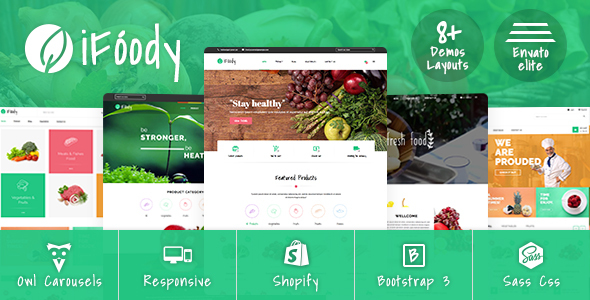 Image of SP iFoody - Responsive Organic Food Shopify Theme