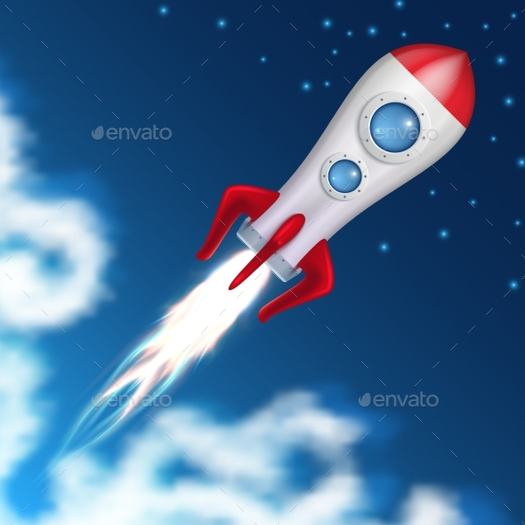 Space Rocket Takes Off