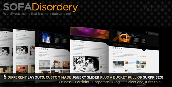Sofa Disordery: Business,Portfolio,Corporate,Blog - Sofa Disordery splash screen.