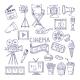 Cinematography Doodle Set