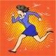 Vector Pop Art Illustration of Running