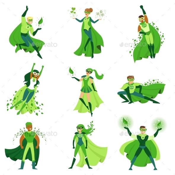 ECO Superhero Characters Set