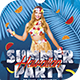 Summer Hawaiian Party Flyer Template