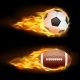Vector Set of Sports Burning Balls