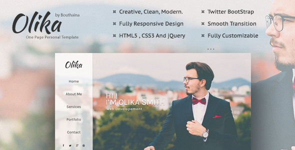 Olika – One Page Personal Template (Personal) images