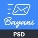 Bayani - E-newsletter PSD Template