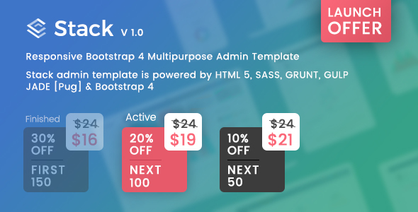 Stack - Responsive Bootstrap 4 Admin Template