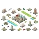 Isometric City Constructor Elements Set