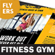 Fitness Gym Flyers 5 – 4 Options