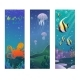 Cartoon Underwater Sea Animals Vertical Banners