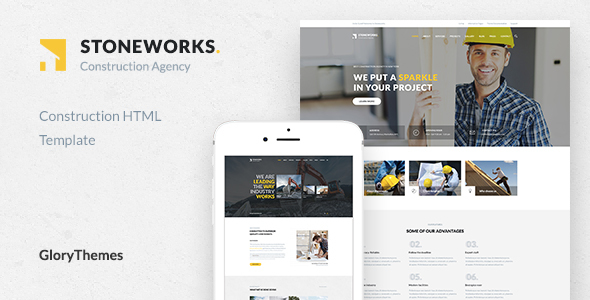 Image of Stoneworks - A Professional HTML Template for Construction, Architect & Building Business