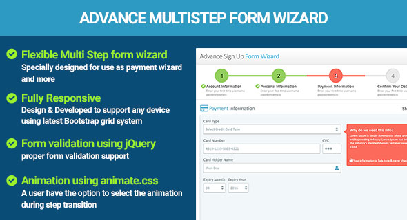 Multi Step Kind Wizard jQuery Validation (Types)