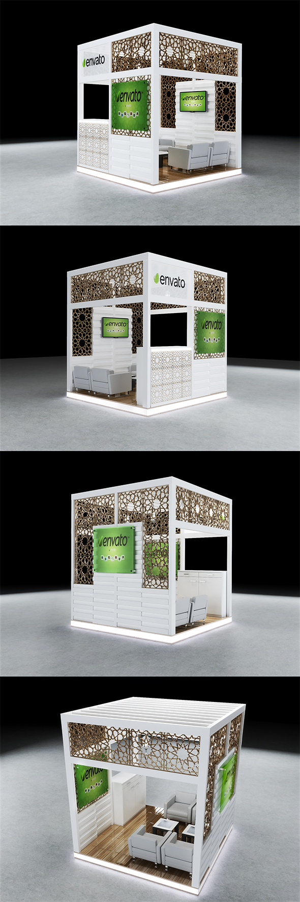 3DOcean Exhibition Booth Design 3Mx3Mx3M 20192563