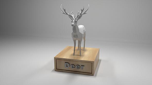 3DOcean Low Polygon Deer 20193112