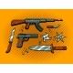 Weapon Pop Art Style Vector Illustration