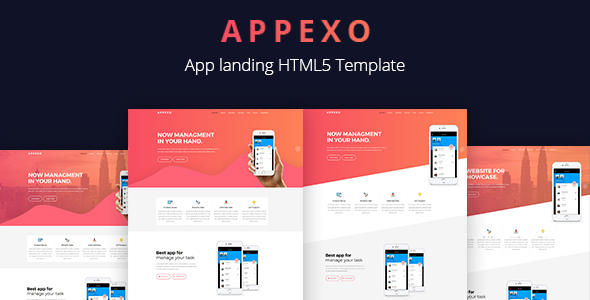 Appexo App Landing Page.