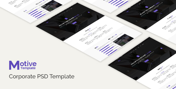 Motive - Corporate PSD Template