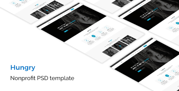 Hungry - Nonprofit PSD Template