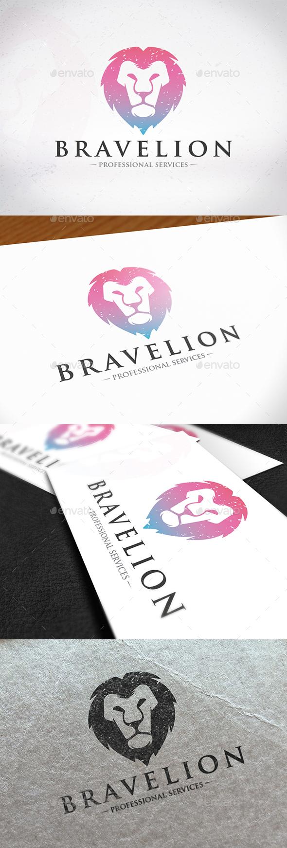 Brave Lion Logo Design
