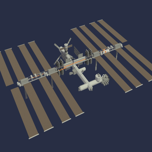 3DOcean Low Poly ISS Model 20194525