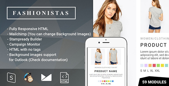 Fashion & Ecommerce - Responsive Email with Mailchimp Editor & StampReady Builder