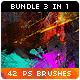 42 Watercolor Splatter Paint Photoshop Brushes Bundle