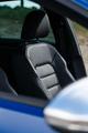 Leather driver seats in luxury sportscar
