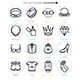 Accessories Line Icon Set