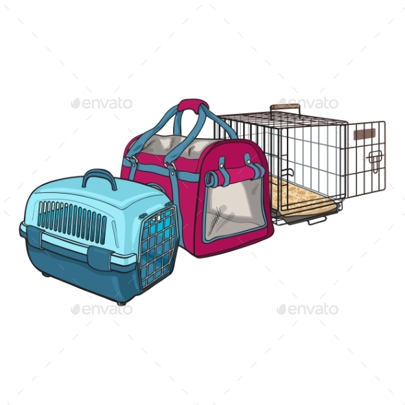 Three Type of Pet Carriers