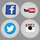 Social Logo Pack - Periscope, Facebook, YouTube, Twitter, Instagram, Vkontakte, Odnoklassniki, Thumb