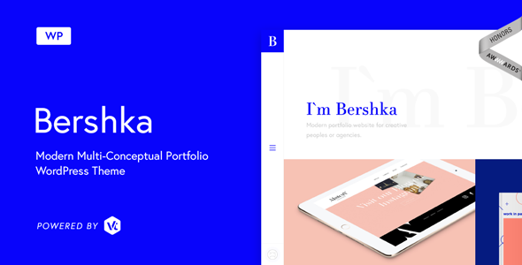 Bershka - Modern Multi-Conceptual Portfolio WordPress Theme