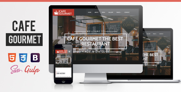 Cafe Gourmet | Bar & Restaurant Theme