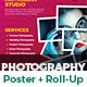 Photography Poster & Roll-Up Banner Template Bundle