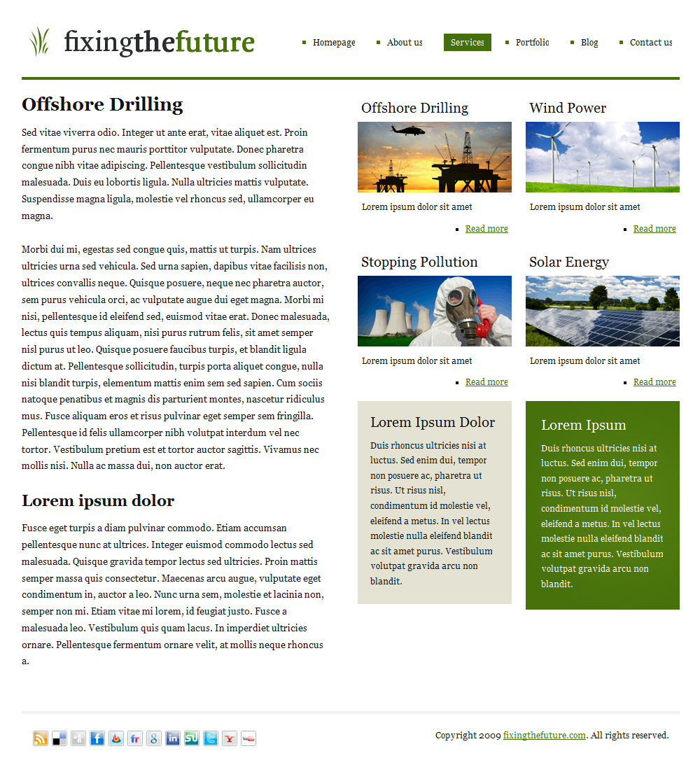 Green Future | A clean, versatile, beautiful theme