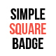 Simple Square Badge Set