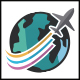 Travel World Plane Logo