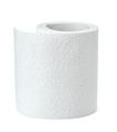 Half of white toilet paper roll
