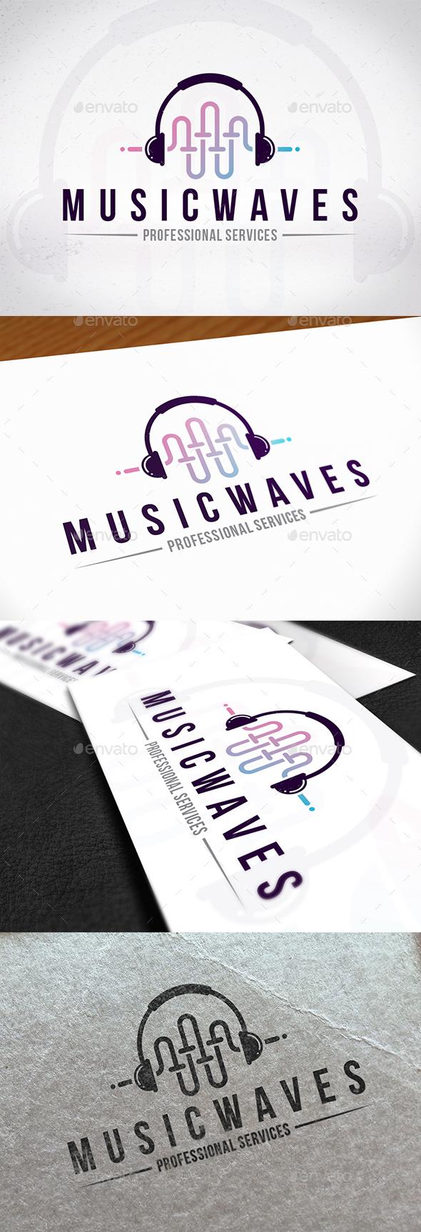 Music Waves Creative Logo