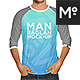 Raglan 3/4 Shirt Mock-up