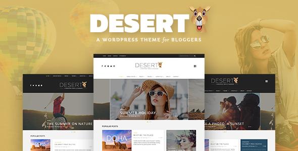 Desert – A Responsive WordPress Blog Theme (News / Editorial) images