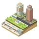 Isometric Colorful Cityscape Concept