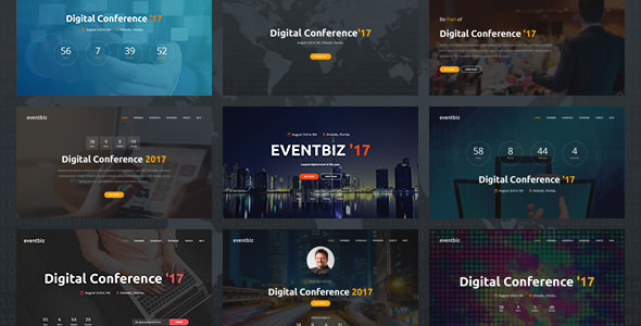 Eventbiz - Event and Conference Website Template