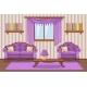 Set Cartoon Cushioned Furniture, Violet Living