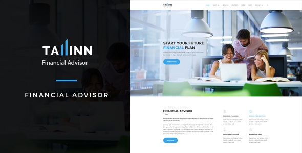 Tallinn – Business and  Consultancy WordPress Theme (Corporate) images