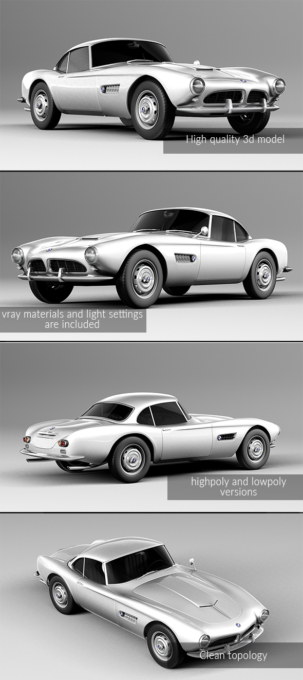 3DOcean BMW 507 coupe 1959 20203104