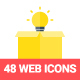 48 Flat Web and Seo Icons