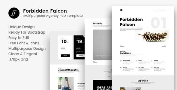 Forbidden Falcon – Multipurpose Agency PSD Template