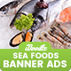 SeaFood Store, Fresh Food Banners Ad