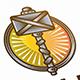 Thor Hammer Logo Crest